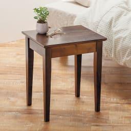 天然木サイドテーブル