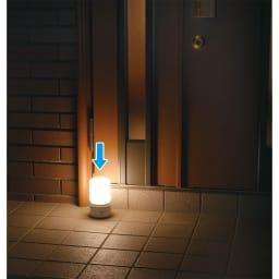 人感センサー付きもてなしライト 丸型は野外でも使える防沫仕様(IP×4)