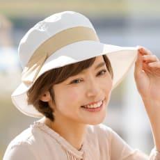 プレミアムホワイト遮熱UVカット帽子