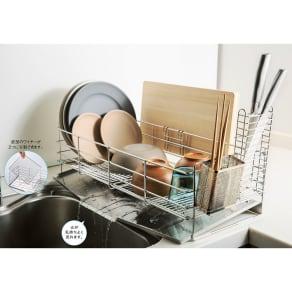 パーツが食洗機で洗えるピカピカ水切り 幅34cmデラックス 写真