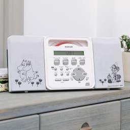 壁掛けCDプレーヤー ムーミンモデル (c)Moomin Characters TM 大人気の薄型CDプレーヤーにムーミンモデルが登場!甘すぎない大人カワイイ上品なデザインです。