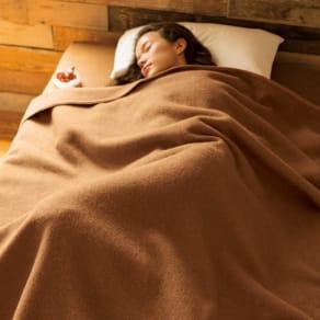 シングル(洗える100%ナチュラルキャメル掛け毛布) 写真