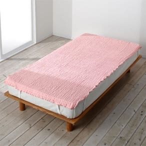 シングル~セミダブル兼用(ふわふわ感が長く続く 新・くしゅくしゅ&ふわふわ タオル寝具シリーズ タオルシーツ) 写真