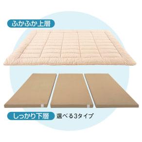 レギュラータイプ 下層(セミシングル)1人用・追加用(コンパクト&ワイド敷布団)