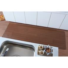 サンゲツ プリントダイニングラグ&マットシリーズ キッチンマット 幅80cm
