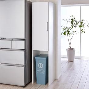 ゴミ箱上を活用できる下段オープンすき間収納庫 幅40cm 写真