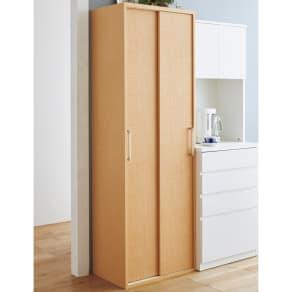 出し入れラクラク 引き戸の食器棚 幅60cm・奥行39cm 写真