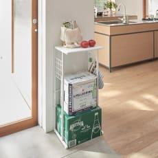 幅が伸縮するキッチン作業台ラック 奥行30cm 幅30cm~50cm