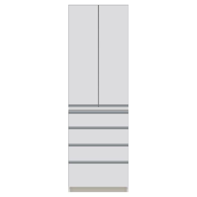 サイズが豊富な高機能シリーズ 板扉タイプ 食器棚引き出し4杯 幅60奥行50高さ187cm/パモウナ DZ-600K