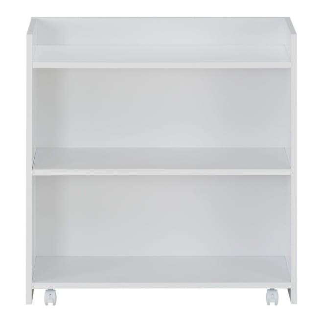 隠せるカウンター下収納 棚タイプ 幅79高さ80cm (イ)ホワイト