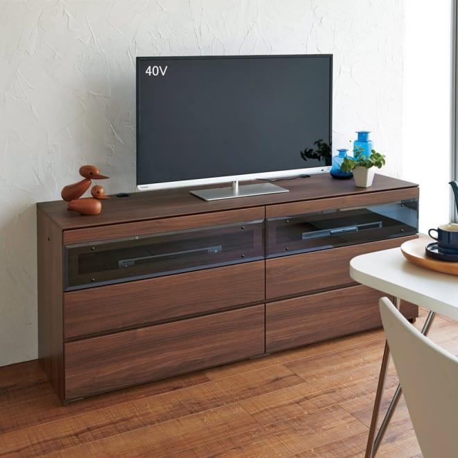 パモウナGV-120ダイニングからシアターリビングシリーズ テレビ台 幅120cm (ア)ダークブラウン ※写真はテレビ台・幅160cmタイプです。