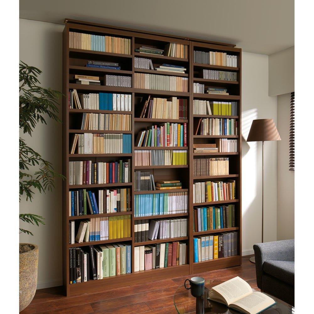棚板の位置が選べる本棚(幅60cm本体高さ180cm)のコーディネート