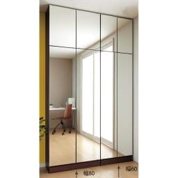 工夫満載!壁面書棚(本棚)リフォームユニット 幅60奥行31高さ180cm ≪組合せ例≫ ※写真は、本体と上置きの組合せです。(左)幅80cm、(右)幅60cmタイプです。