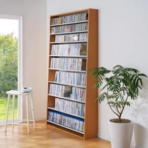 効率的に大量収納CD・DVDラック 幅109cm 写真