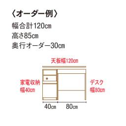 造り付けのような本格派 奥行サイズオーダー システム収納 ユニットデスク 幅80cm高さ100cm奥行30~45cm 【オーダー例】充電ができるバーカウンターとしても♪ ※ユニットのみの使用はできません。必ず専用天板をご購入ください。