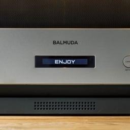 【送料無料/特典付き】BALMUDA The Range(バルミューダ ザ レンジ) ステンレスタイプ[先着100名様 レビューを書いて特典付き] 【SOUND】操作音は電子音とギターが奏でる音から選択ができます。スピーカーから流れる良質な音が耳に心地よく。