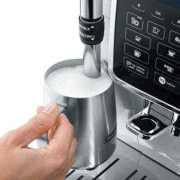 特典コーヒー豆付き DeLonghi/デロンギ ディナミカ コンパクト全自動コーヒーマシン (2)ふわふわミルクも簡単に。