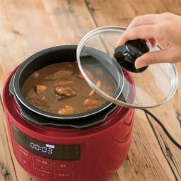 siroca/シロカ ハイブリッド 電気圧力鍋 4L(容量2.6L)SP-4D151 ディノス特別セット 保温や温め直しもできます。ディノス特典のガラスフタは保温や温め直しに便利。着脱式電源コードでそのまま食卓に出せます。