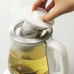 調理もできる温度調整もできるガラスの電気ケトル(クックケトル) お出汁作り