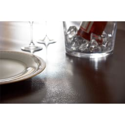 本革調テーブルマット 幅45cm・幅90cm・幅120cm (ア)ダークブラウン シックで落ち着いた高級感にある色