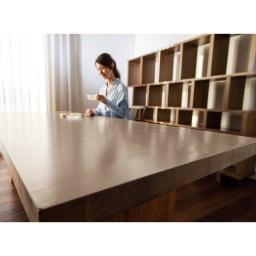 本革調テーブルマット 幅45cm・幅90cm・幅120cm (イ)グレイッシュブラウン
