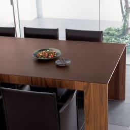 本革調テーブルマット 幅45cm・幅90cm・幅120cm (ア)ダークブラウン