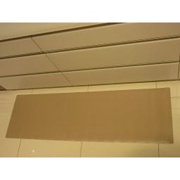 本革調キッチンマット【奥行60cm】 使用イメージ(イ)グレイッシュブラウン