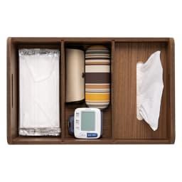 飲み忘れ防止! お薬・サプリメントひとまとめワゴン [1段目] お薬手帳やティッシュの指定席に。