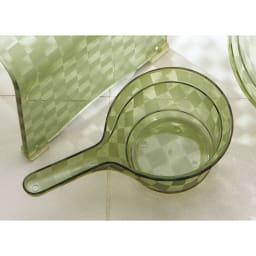 アクリル製 湯手桶 (イ)グリーン系