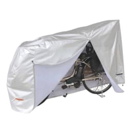 スロープ付き電動自転車スタンド 1台用(電動自転車専用カバー付き) カバーを付けたままバッテリーの脱着が可能。