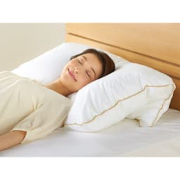 【フォスフレイクス】枕クラシック&ロイヤーレ 枕カバー付き 枕:ホワイト ハーフボディサイズ