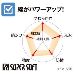 スーパーソフト加工 ピローケース(同色2枚組) 柄タイプ