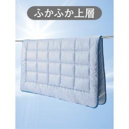 コンパクト&ワイドファミリー敷布団 ハッピー 防ダニ上層パッドのみ 天日干しで湿気対策。
