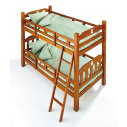 サテン織で質感UP!ダニゼロック 綿100%敷布団カバー 2段ベッド用もご用意しております。
