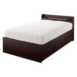 寝そべりながらタブレットが使えるベッド フレームのみ (イ)ダークブラウン ※お届けはフレームのみです。
