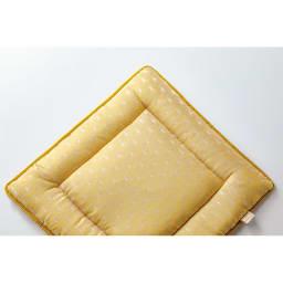 スペイン製ジャカード織りシートクッション (イ)イエロー系・裏