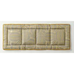 スペイン製ジャカード織りシートクッション (イ)イエロー系・表(写真は約48×120cm)