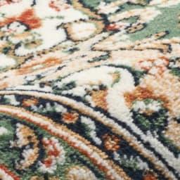 ベルギー製モケット マット〈マティアス〉 素材アップ: 極細繊維で毛足の短いモケット織り。柄がくっきり表現できるのが特長。