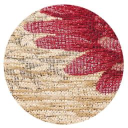 〈オルテンシア〉 クッションカバー 選べる2枚セット 素材アップ(ア)ベージュ ソフトで光沢のあるシェニール糸を使用。