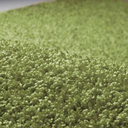 オールシーズン対応ラグ〈コンフェルテ〉 円形・径約190cm (イ)ライトグリーン