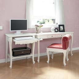 アンティーククラシックシリーズ アンティーク風コンソールテーブル(机) ナチュラルテイストなお部屋にもおすすめ。