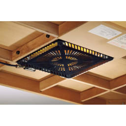 【長方形・小】 楢ラウンドデザインこたつテーブル 幅105×奥行75cm 薄型ヒーターなので足元も広々。布団の中で横になってもやけどの心配もありません。