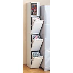 キッチンすき間収納 トールタイプダストボックス 2分別 ※写真は3分別タイプです。