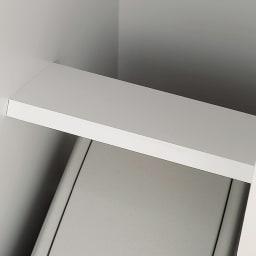 組立不要 キッチン分別タワーダストボックス 5分別 ゴミ箱タイプ 上段のゴミ箱を支える固定材。 しっかりと支え、さらに化粧仕上げ!