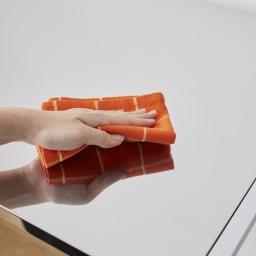 幅と高さが伸縮できるステンレス作業台 幅46~75cm 奥行30cm 清潔さが続くステンレス天板。
