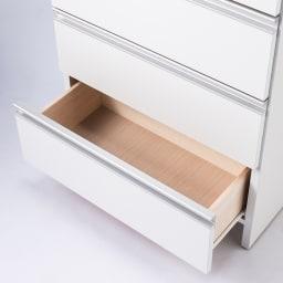 組立不要 水や汚れに強いステンレス天板 サニタリーチェスト 幅75cm・奥行32cm (イ)ホワイト色 タオル収納や洗面化粧台まわりの小物収納。衣類チェストとしても使いやすいフラットな内部構造。