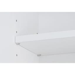 組立不要 天井まで使える薄型サニタリーチェスト 奥行23.5cmタイプ・幅50cm 上部収納の可動棚板は3cmピッチで高さ調節が可能です。