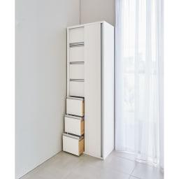 サニタリー片引き戸収納庫 幅75cm 使用イメージ ※写真は幅60cmタイプです。