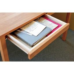 ミニマムデスク TSUKUE(ツクエ)デスク 幅110奥行60cm 引き出し側板は檜材を採用。