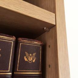 ホームライブラリーシリーズ キャビネット 幅80cm  突っ張りタイプ 3cmピッチ可動棚板。